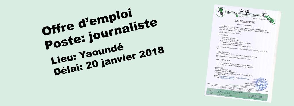 Recrutement de journalistes